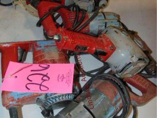 5 Milwaukee elec drills  1 missing cord