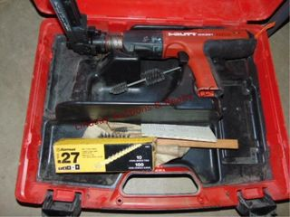 Hilti DX351 cordless power actuated tool in case
