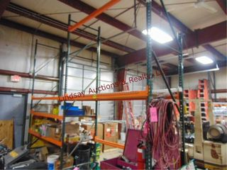 2 sections pallet racking 8  x 42  w  4 shelves