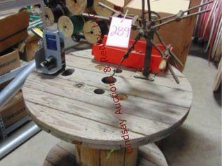Handmade reel table w  wire length meter