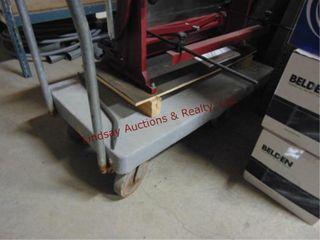 Rolling flat cart approx 48  long