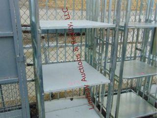 3 shelf rack on whls 27  x 27  x 68