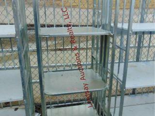 3 shelf rack on whls 26  x 25  x 66