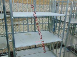 3 shelf rack on whls 39  x 27  x 68