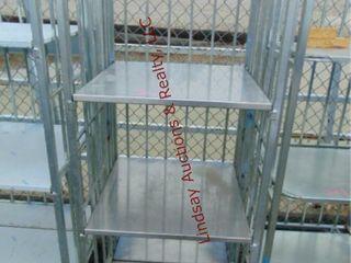 3 shelf rack 27  x 27  x 68  NO WHEElS