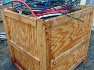 WOOD CRATE 47 x 53 x 48 full of misc wires