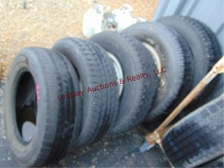 5 used tires  some w  whls  SEE PICS