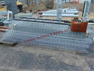 Group of metal racks approx 44  box of cords wire