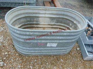 Farmaster metal trough 45 x 24 x 25  has holes