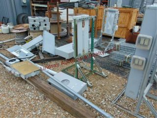 large lot of approx 13 various size elec boxes