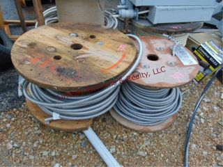 2 reels of wire   1 reel of rope  partials