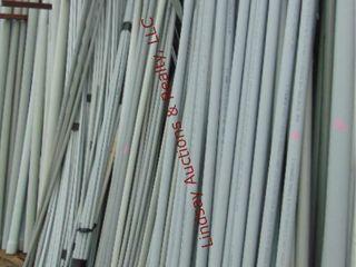 large lot of pvc conduit  various sizes