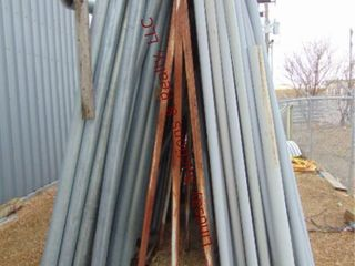 Metal conduit rack 8  x 20  x 9  tall NO CONTENTS