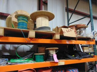 Group of misc rolls of wire  cable   other
