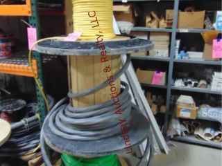 3 partial spools of wire