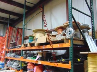 2 sections of pallet racking w  6 shelves