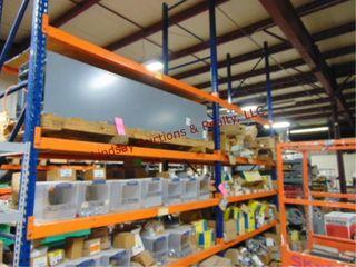 1sec  pallet racking w  shelves   2 uprights