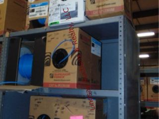 Approx 15 partial boxes of wire NO SHElF