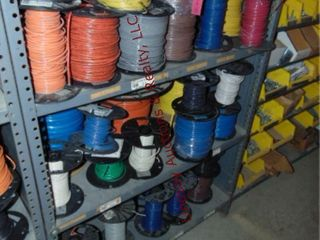 Approx 5 shelves of misc NEW   PARTIAl wire reels