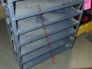 Small metal shelf 36 x 12 x 39  NO CONTENTS