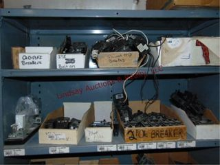 CONTENTS on shelf   Various size breakers