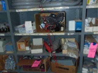 CONTENTS on shelf  PVC conduit  breakers