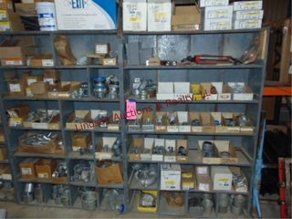 2 Wood Shelves AND Contents  48 x12 x72