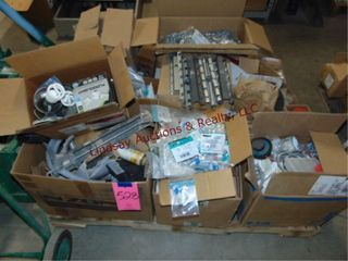 Pallet of Misc items  Metal plates  elbows