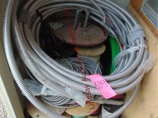 Group of Various Spools of Wire   Wire Reel