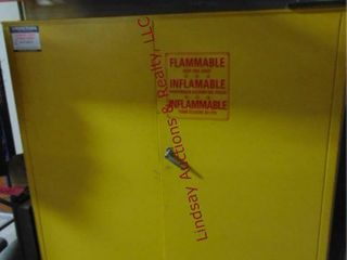 Yellow metal flammables storage cabinet WITH