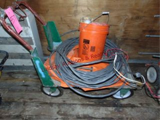 Flat Cart w  partial section of wire