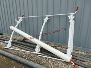 Weather guard roof ladder rack for van