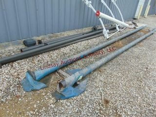8 metal light poles  2 approx 5  x 24