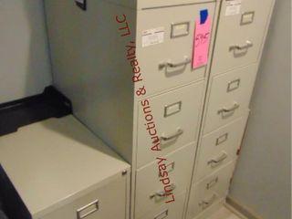 3 Filing cabinets   1  2 drawer    2  4 drawer