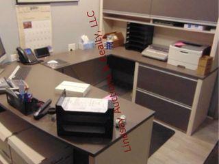 U  Shape Desk w  2 drawer latoral file cabinet