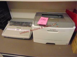lexmark model E260d printer