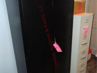 2 Door black cabinet 36x18x72 WITH CONTENTS