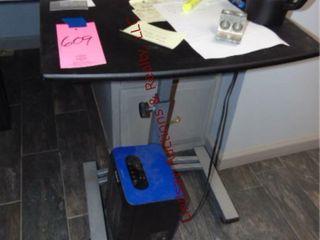 Small rolling side desk