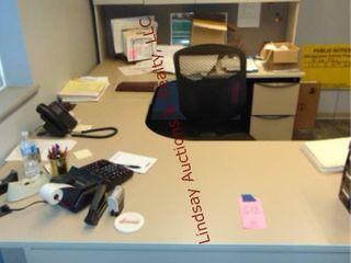 U Shape office desk And Credenza