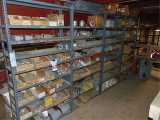 4  shelves 36 x 12 x 75  NO CONTENTS