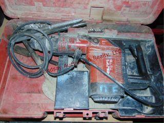 Hilti elec concrete drill 115v w  case   bits