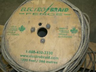 lARGE lOT OF ElECTRO BRAID HEAVY WIRE ROPE