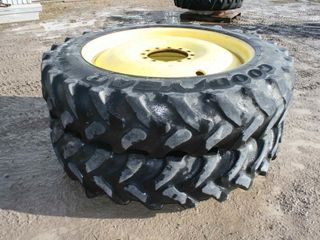 2 GOODYEAR 380 90R46 SPRAYER TIRES RIMS  FITS 4830