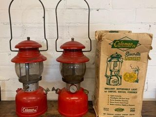 Pair of Early Coleman  200 lanterns
