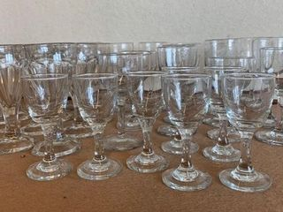 lot of Many Clean Stemware Parfait and Other Glass