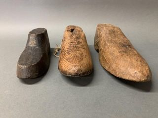 Set of Very Primitive Wooden Shoe Molds