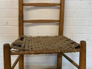 Primitive Caned Seat Chair