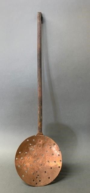 Heavy Copper and Forged Handle Skimmer