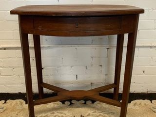 Unusual Stretcher Base Cherry Table