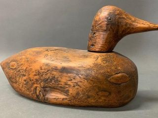 Early Carved Wooden Decoy